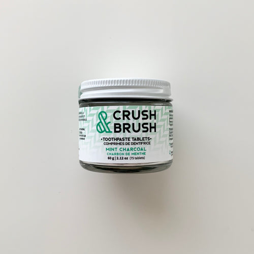 Crush and Brush Tablets Mint Charcoal