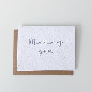 Missing You Seed Paper Card