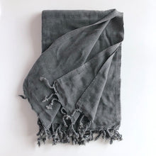 Load image into Gallery viewer, Oversized Turkish Towel Charcoal