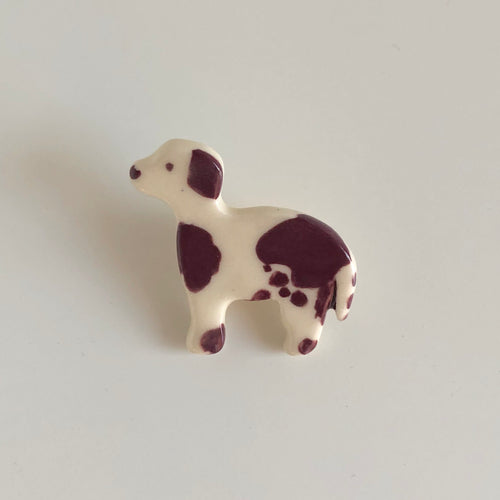 Brown Spotted Beagle Pin