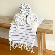 Load image into Gallery viewer, Oversized Turkish Towel Dove