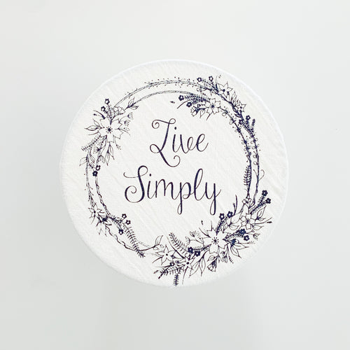 Floral Live Simply Medium Bowl Cover