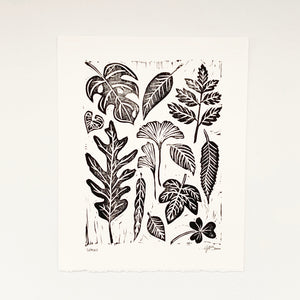 Leaves 8x10 Block Print