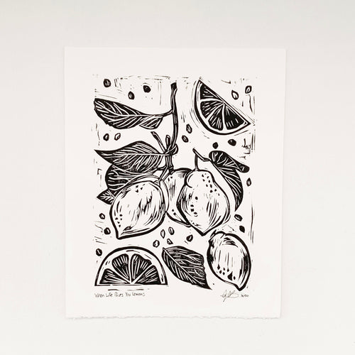 When Life Gives You Lemons 8x10 Block Print