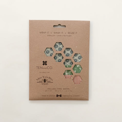 Ten and Co Beeswax Wrap Set Geo Trio