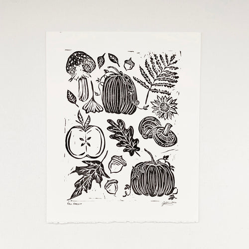 Fall Harvest 8x10 Block Print