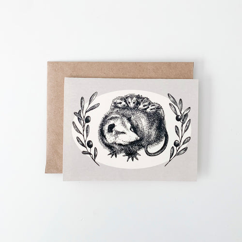 Opossum Blank Greeting Card