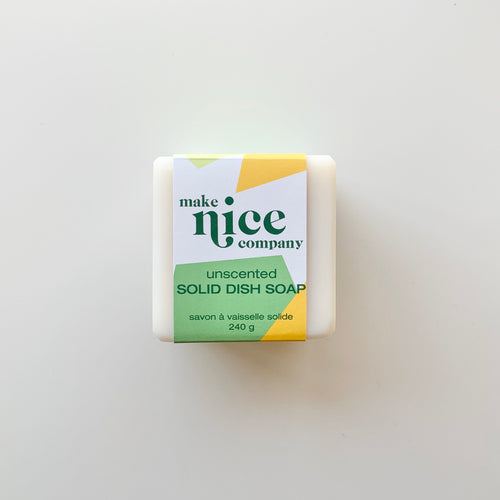 Make Nice Company Solid Dish Soap