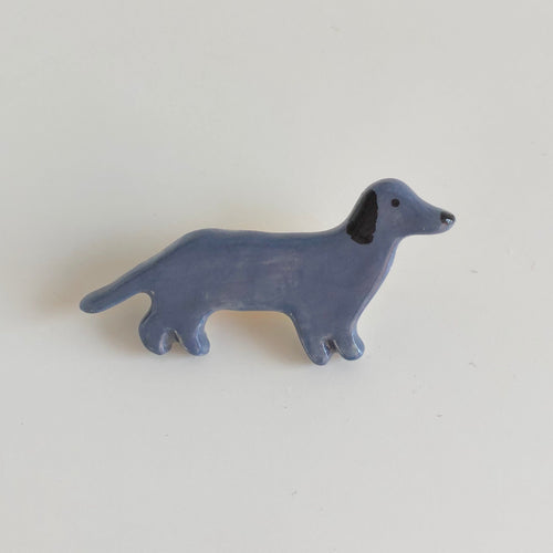 Blue Dachshund Pin