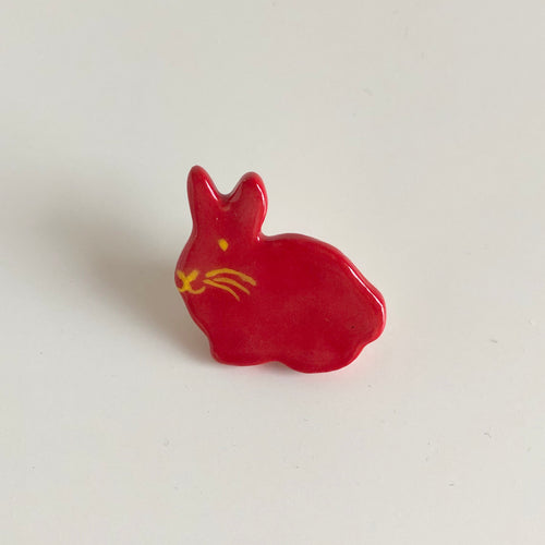Red Bunny Pin