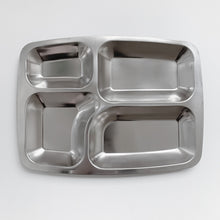 Load image into Gallery viewer, Stainless Steel Divided Food Tray