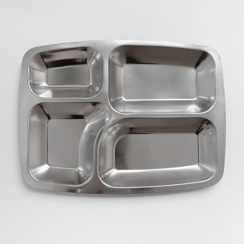 Stainless Steel Divided Food Tray