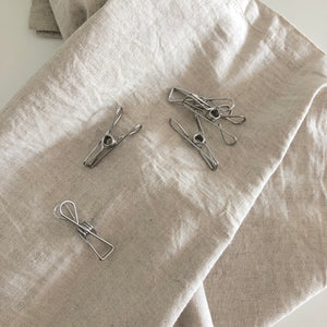 Stainless Steel Clip Clothespins Set