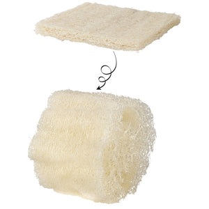 Raw Kitchen and Bath Natural Loofah Scrubber Set of 3
