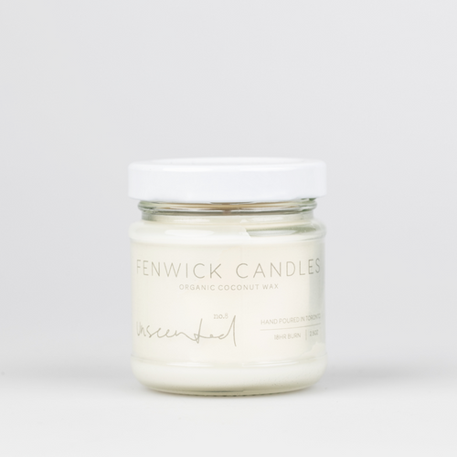 Unscented Coconut Wax Candle