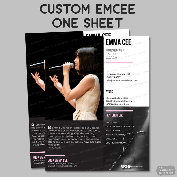Custom Emcee/Host One Sheet