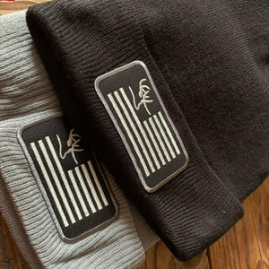Embroidered Flag Patch Beanie
