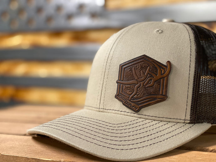 Nose Down Topo Patch Hat