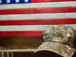 Nose Down Realtree Camo Hat
