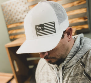 USA Flag Stone Patch Hat