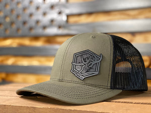Black/Silver Topo Patch Hat
