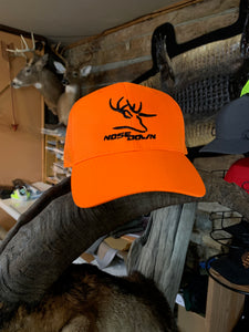 Blaze Orange Nose Down Hat Outdoor Cap