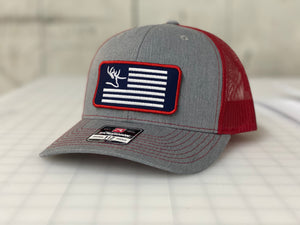 Nose Down Embroidered Flag Hat