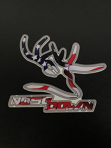 Nose Down Flag Decal