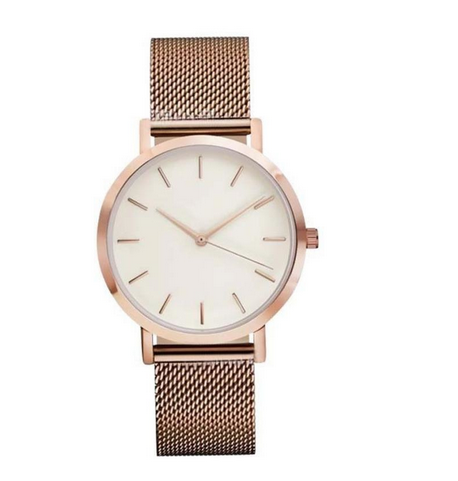 Women's stainless steel watch rose gold
