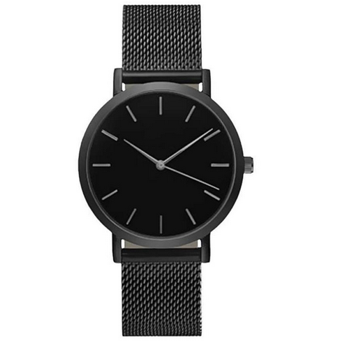 Women's stainless steel watch all black