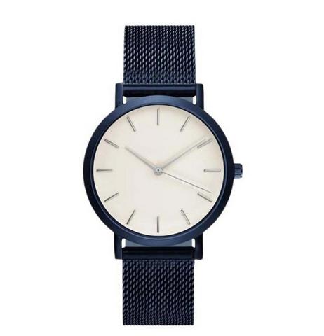 Women's stainless steal watch navy