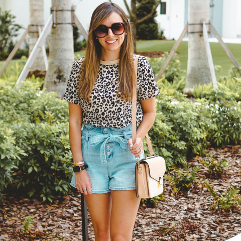 Casual Leopard Print T-Shirt | Blooming Jelly