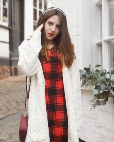 Blooming Jelly Red and Black Plaid Mini Dress
