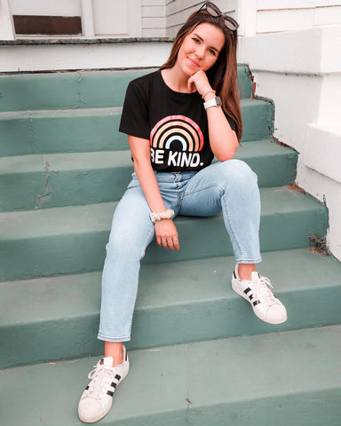 Blooming Jelly Women's Be Kind Letter Print Graphic Tee