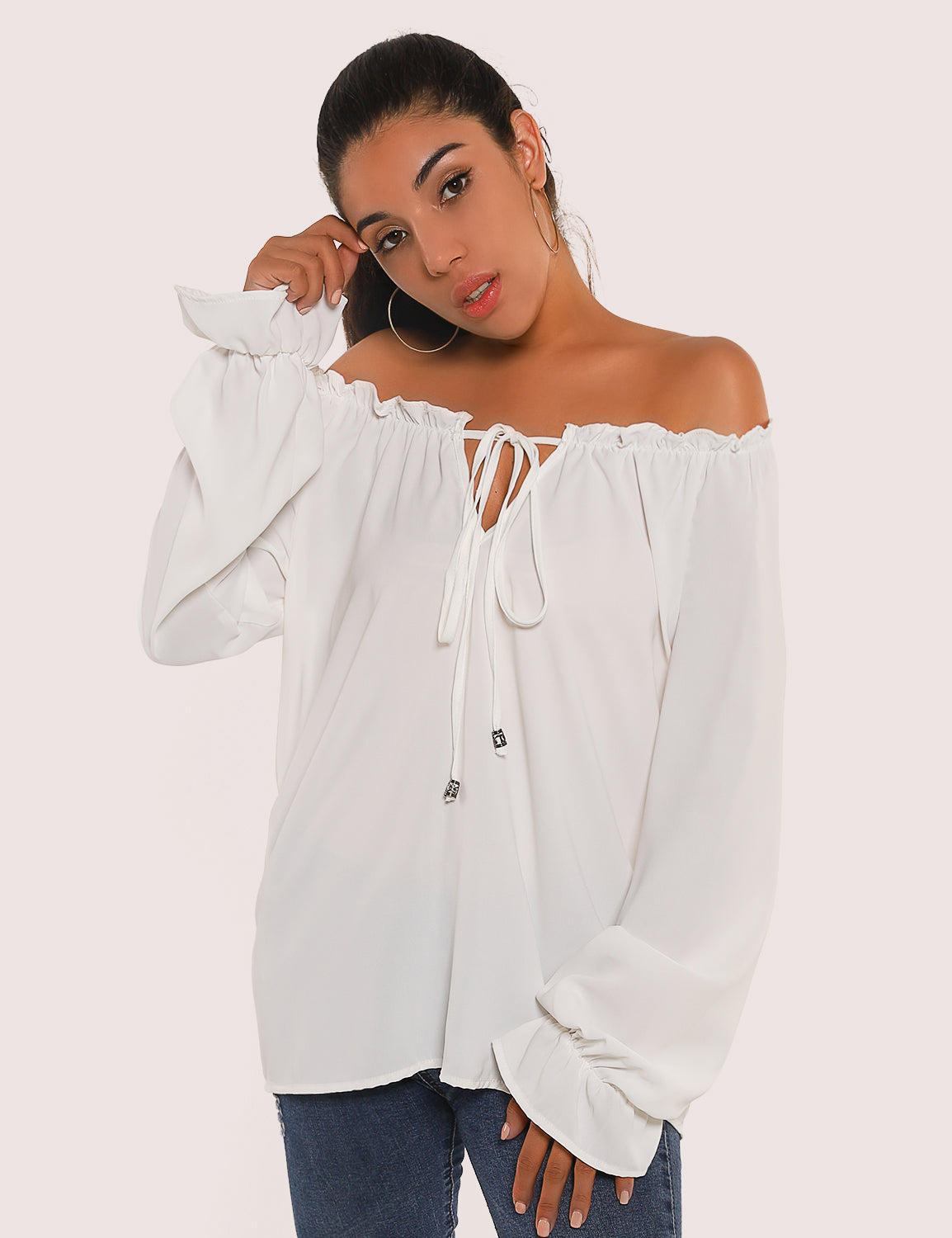 Blooming Jelly_Brand New Life Off the Shoulder Blouse_White_153247_19_Elegant Women Daily Wear_Tops_Blouse