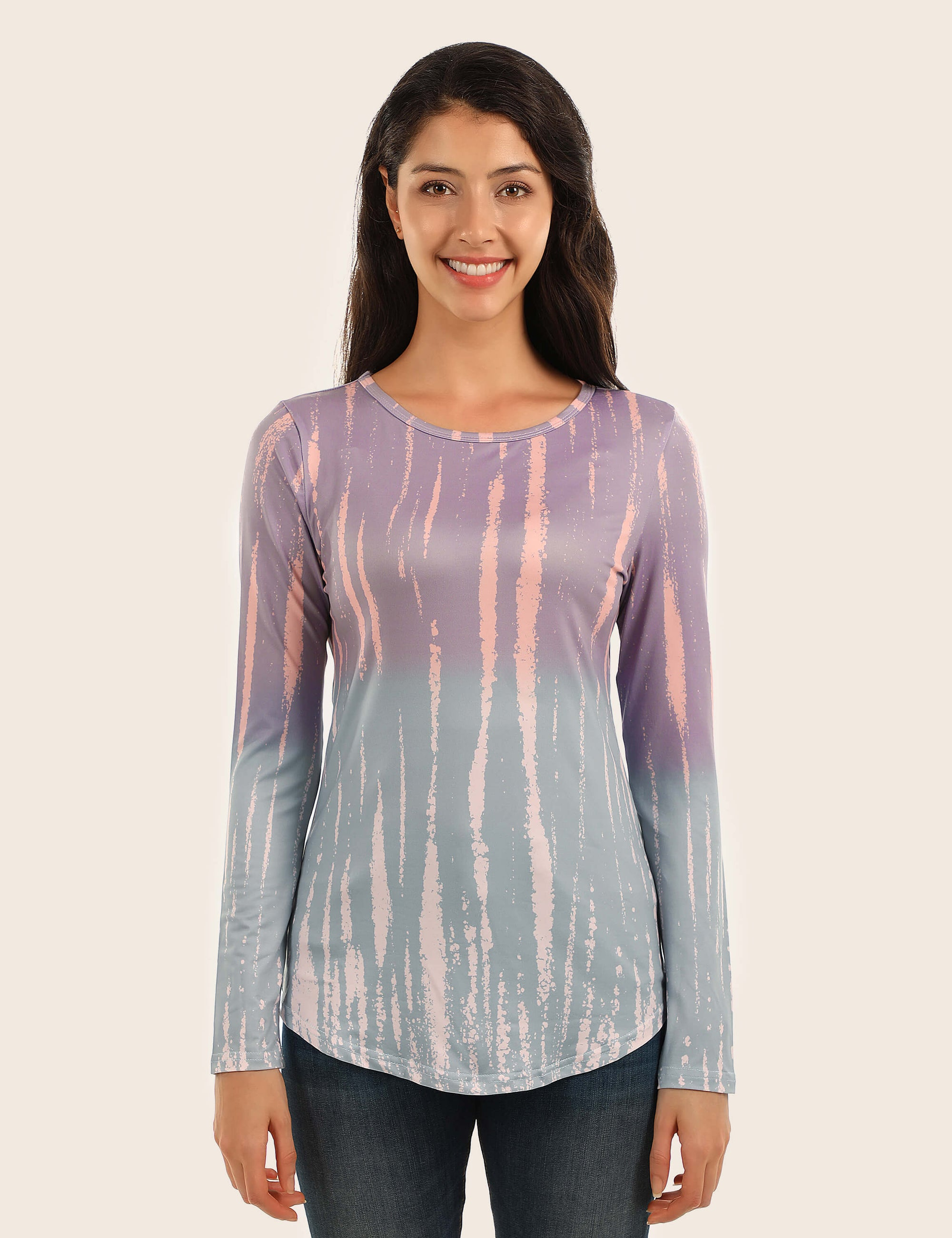 Fantasy Dream Skinny Tie Dye T-Shirt - Blooming Jelly
