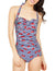 One Piece Retro Ruched Tummy Control Swimsuit