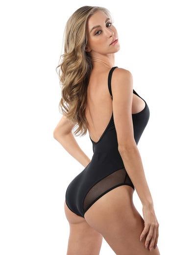 Dream Lover Mesh Backless One Piece Swimsuit - Blooming Jelly