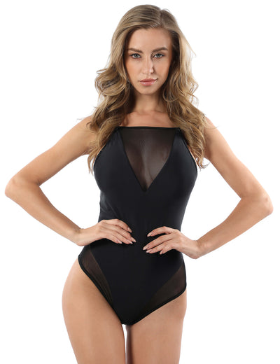 Blooming Jelly_Dream Lover Mesh Backless One Piece Swimsuit_Black_113058_02_Women Beach & Vacation Sexy_Swimsuit _One Piece