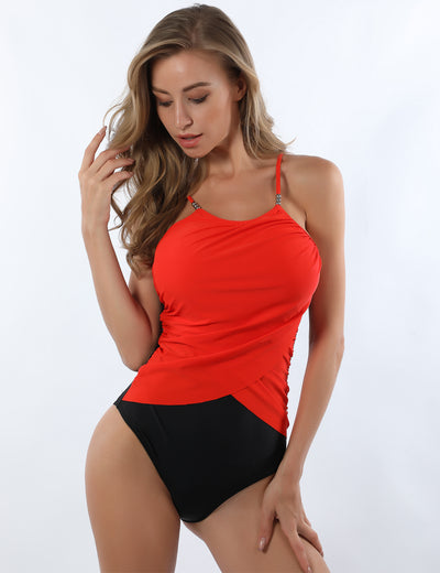 Ruffled Tummy Control One Piece Swimsuit