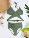 Walking At The Seaside Wrap Halter Bikini - Blooming Jelly