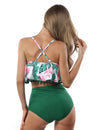 Blooming Jelly_Beauty Blooming Flounced High Waist Tankini Set_Sea Green Leaves Print_115063_09_Women Sexy Beach Vacation Swimwear_Swimsuit_Bikini Set