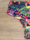 Zealous Tropical Deep V Neck Bikini Set - Blooming Jelly