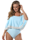 Tummy Control Flouncing One Piece Swimsuit - Blooming Jelly