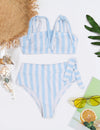Blooming Jelly_Sandy Mermaid Bandeau High Waist Stripe Bikini Set_Light Sky Blue_115185_04_Cute Women Summer Time Bathing Suit_Swimsuit_Bikini Set