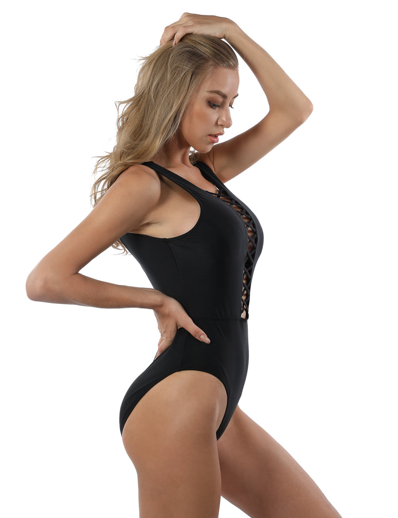Super Hot Strappy One Piece Swimsuit - Blooming Jelly