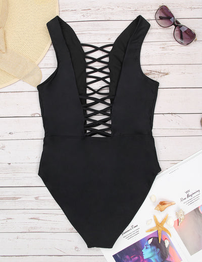 Super Hot Strappy One Piece Swimsuit