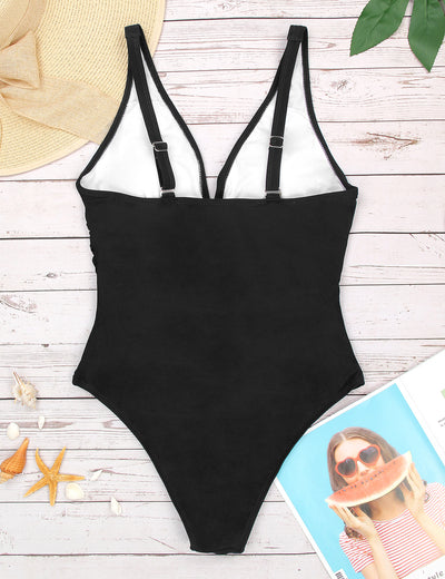 Old Fashion Ruffled One Piece Swimsuit