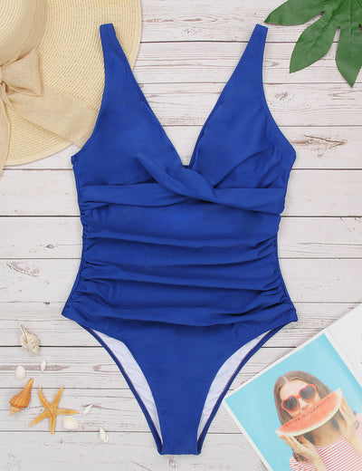 Old Fashion Ruffled One Piece Swimsuit - Blooming Jelly