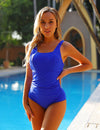 Blue Gem Plus Size Sporty One Piece Swimsuit - Blooming Jelly